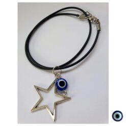 שרשרת peace vibes כוכב עין טובה תלויה קצר 1