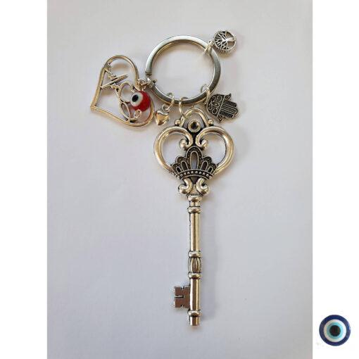 מחזיק מפתחות אהבה זה כל הסיפור עין טובה אדום 1