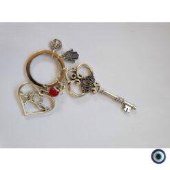 מחזיק מפתחות אהבה זה כל הסיפור עין טובה אדום 2