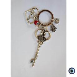 מחזיק מפתחות אהבה זה כל הסיפור עין טובה אדום 3