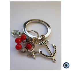 מחזיק מפתחות בניחוח חוף ים - עוגן, עץ החיים וכתר מלכות 1
