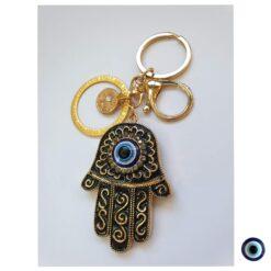 מחזיק מפתחות חמסה ברכות ועץ החיים 1